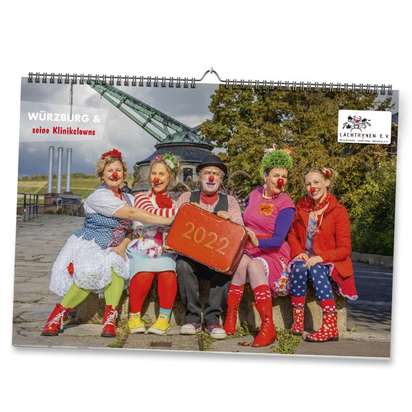 Charity Kalender 2022 der Würzburger Klinikclowns
