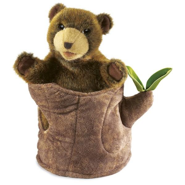Bear in Tree Stump