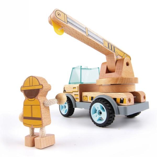 VAROOM Baufahrzeug:Kranwagen mit Schieber,CostructionVehicel: Crane
