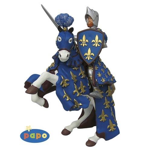 Prinz Philipp + Pferd blau - Spielfigur von Papo
