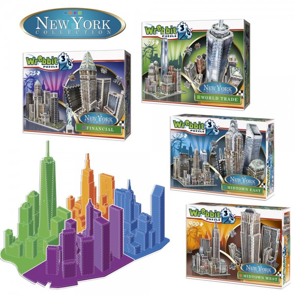 4er SET New York Collection / 3D-Puzzle
