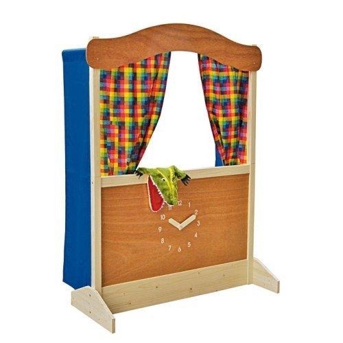 Punch and Judy show made of wood