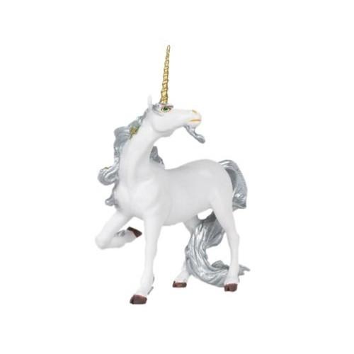 Silbernes Einhorn - Spielfigur von Papo