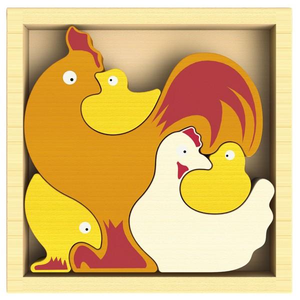 Hühnerhof Puzzle - Chicken Family Puzzle