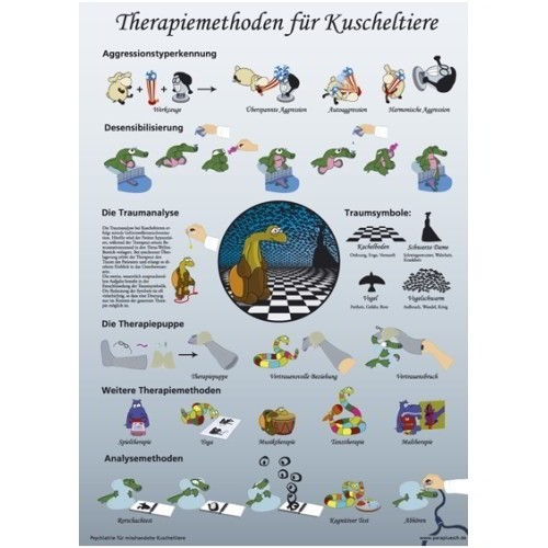 Therapy method for cuddle toys / A1 poster (Paraplüsch)