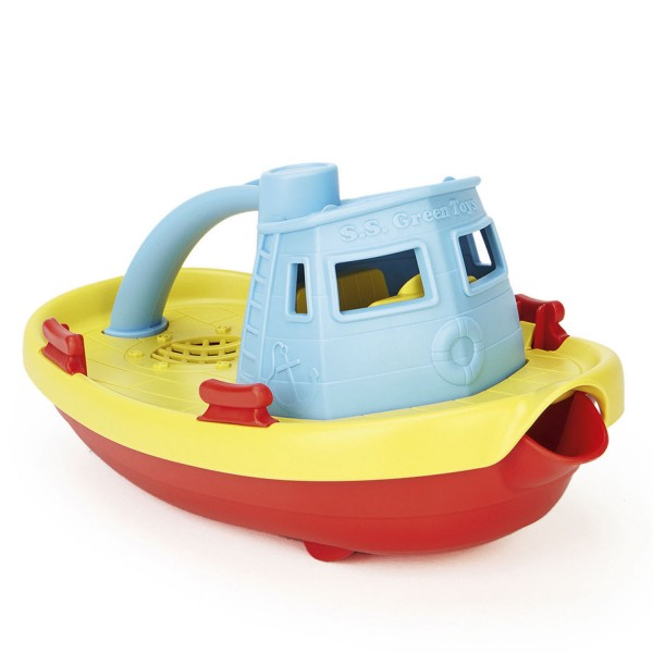 Dampfschiff, gelbes Deck / Tugboat with yellow deck