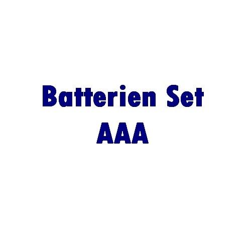 Zubehör: Batterie Set 4x AAA, 1,5 Volt