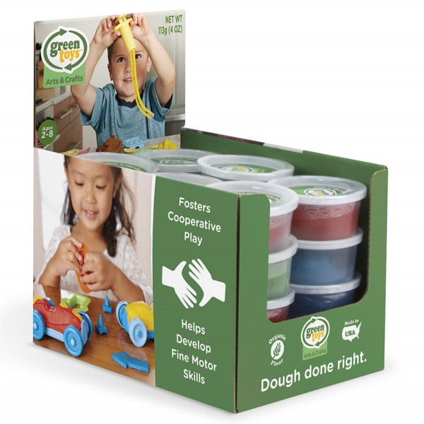 Öko-Knete Display befüllt / Grab and Go Bin Dough