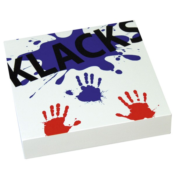 KLACKS! Tischtrommel - (Tisch-Cajon) weiß / KLACKS! Tabledrum - (Cajon) white
