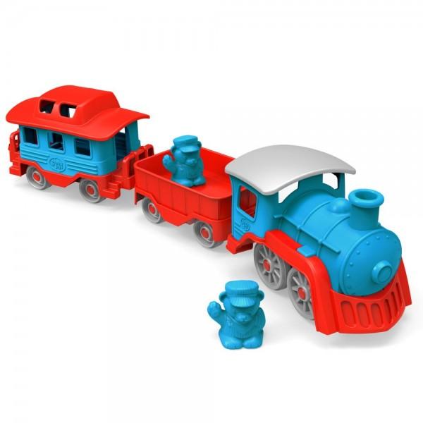 Eisenbahn, blau / Train, blue