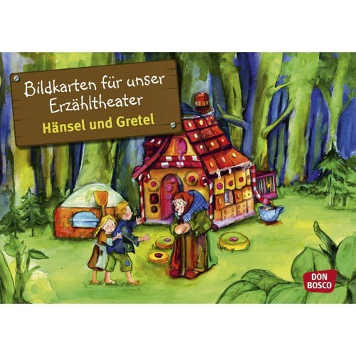 Image maps Hansel and Gretel for telling theatre Kamishibai