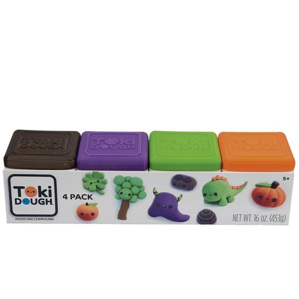 Toki Dough 4-Pack Assortment Red/Yellow/Blue/White und Orange/Green/Purple/Brown